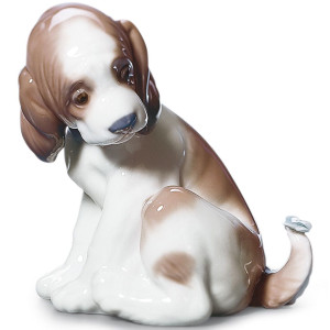Lladro Porcelain Gentle Surprise Puppy Figurine 01006210