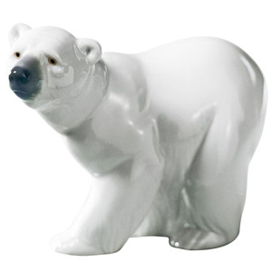 Lladro Porcelain Attentive Polar Bear Figurine 01001207