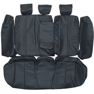 2006-2010 Hyundai Sonata Custom Real Leather Seat Covers (Rear)