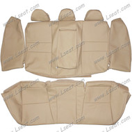 2008-2012 Honda Accord Sedan Custom Real Leather Seat Covers (Rear)