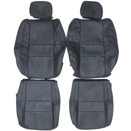 2011 2014 jeep cherokee laredo custom real leather seat covers front. Black Bedroom Furniture Sets. Home Design Ideas