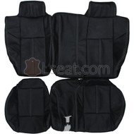 2005-2010 Hummer H3 Custom Real Leather Seat Covers (Rear)
