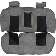 2003-2007 Cadillac CTS Custom Real Leather Seat Covers (Rear)