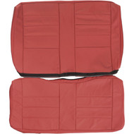 1984-1986 Mustang Convertible Custom Real Leather Seat Covers (Rear)