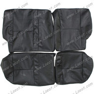 2003-2008 Pontiac Vibe Custom Real Leather Seat Covers (Rear)