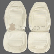 1970 Plymouth Barracuda Custom Real Leather Seat Covers (Front)