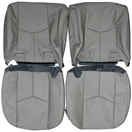 2003-2006 Chevrolet Suburban Custom Real Leather Seat Covers (Rear)