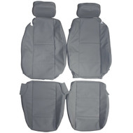 1998-2004 BMW E46 Convertible Standard Custom Real Leather Seat Covers (Front)