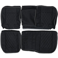 2002-2009 Hummer H2 Custom Real Leather Seat Covers (Rear)
