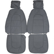 1986-1989 Saab 900 Hatchback Custom Real Leather Seat Covers (Front)