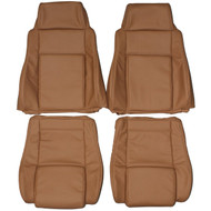1984-1988 Pontiac Fiero Custom Real Leather Seat Covers (Front)