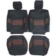 2008 Ford F150 Harley Davidson Custom Real Leather Seat Covers (Front)