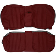 1981-1984 Cadillac DeVille Coupe Custom Real Leather Seat Covers (Rear)