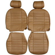 1973-1980 MG MGB Roadster GT Custom Real Leather Seat Covers (Front)