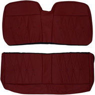 1964 Cadillac DeVille Convertible Custom Real Leather Seat Covers (Rear)
