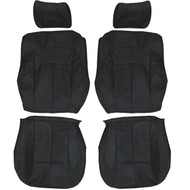 2002-2004 Jeep Grand Cherokee Custom Real Leather Seat Covers (Front)