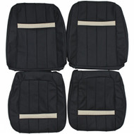 1969 Mercury Cougar XR-7 Custom Real Leather Seat Covers (Front)