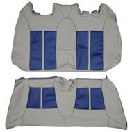 2004-2011 Saab Aero Convertible Custom Real Leather Seat Covers (Rear)