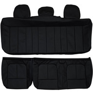 2009-2014 Ford F150 SuperCrew Cab XLT Custom Real Leather Seat Covers (Rear)