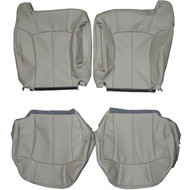 2002 Cadillac Escalade Custom Real Leather Seat Covers (Front)