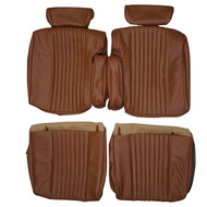 1976-1977 Cadillac Seville Custom Real Leather Seat Covers (Front)