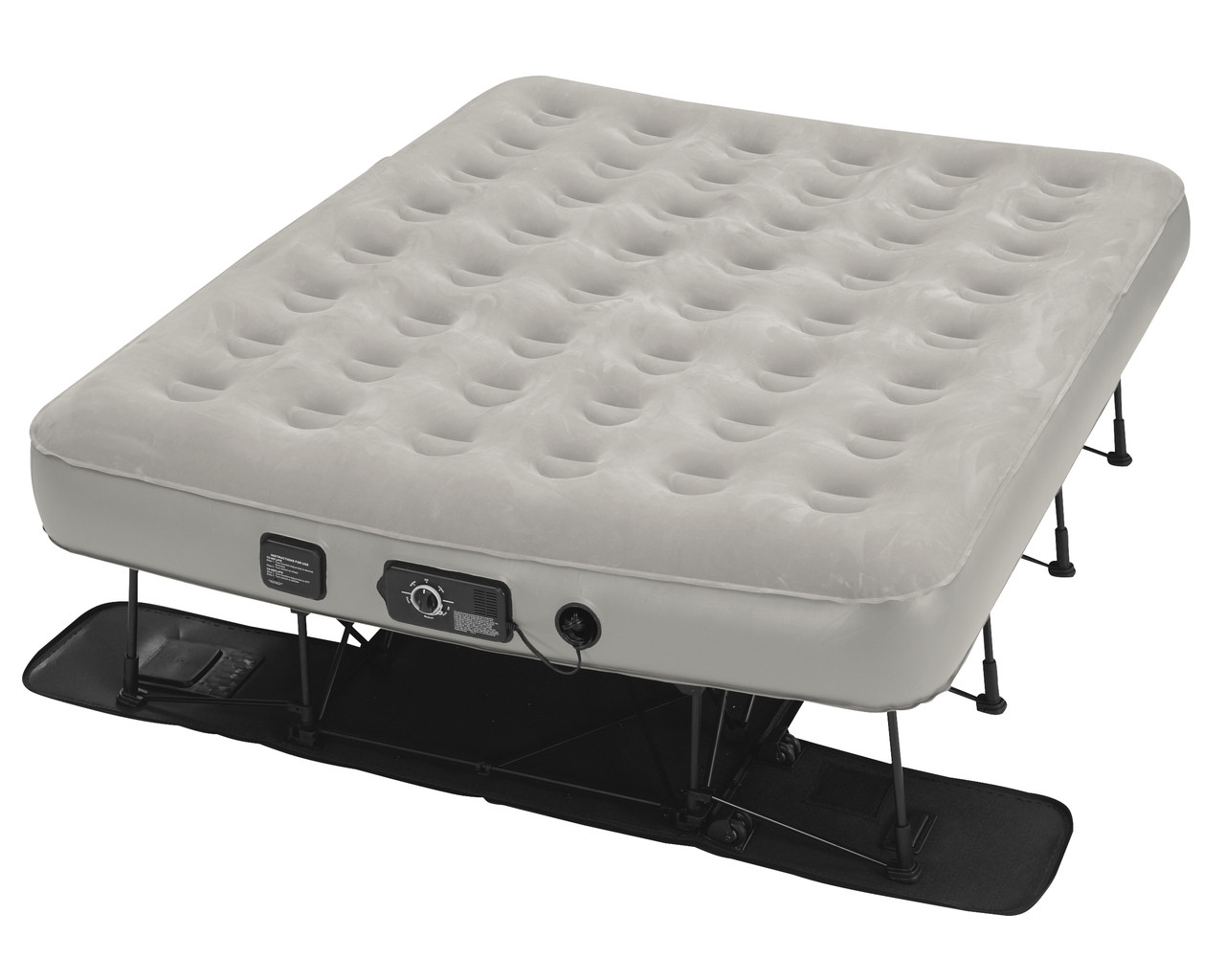 ez bed queen Insta Bed EZ Bed Queen w/neverFLAT Pump | Air Mattress With Frame ez bed queen