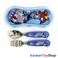 Marvel Captain America Stainless Steel Easy Spoon Fork Case Set