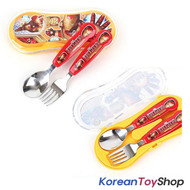 Marvel Iron Man Stainless Steel Easy Spoon Fork Case Set