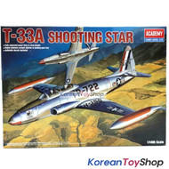 Academy 12284 1/48 Plastic Model USAF T-33A Shooting Star Made in Korea