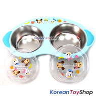 Disney Mickey Mouse Baby Stainless Steel 2 Bowls Food Tray Handle Lid Nonslip B