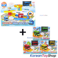 The Little Bus Tayo Baby Parking Garage set with ini Car Rogi Gani Rani play set 3p