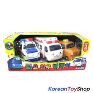 The Little Bus TAYO Friends Soft Toy Car 3 pcs Set Whistle Beep Pat Alice Nuri