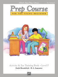 Alfred's Basic Piano Library Prep Course Activity & Ear Training Book Level F
