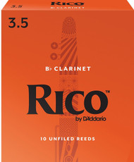 D'Addario Rico Bb Clarinet Reeds, Strength 3.5, 10-pack