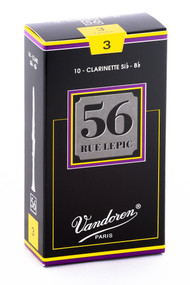Vandoren 56 Rue Lepic Bb Clarinet Reeds, Strength 3, 10 Pack