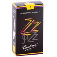 Vandoren ZZ Jazz Alto Saxophone Reeds, Strength 3, 10 Pack