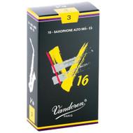Vandoren V16 Alto Saxophone Reeds, Strength 3, 10 Pack