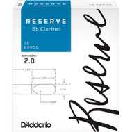 D'Addario Reserve Bb Clarinet Reeds, Strength 2, 10 Pack