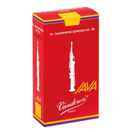 Vandoren Java Red Alto Saxophone Reeds, Strength 3.5, 10 Pack