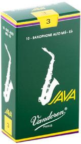 Vandoren Java Alto Saxophone Reeds, Strength 3, 10 Pack