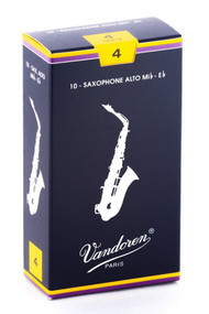 Vandoren Traditional Alto Saxophone Reeds, Strength 4.0, Box of 10