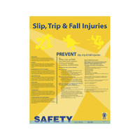 Slip Trip Fall Safety Poster