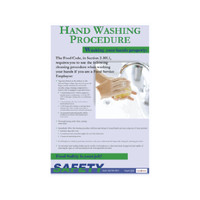 Hand Washing Procedure Poster