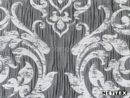 Nettex Eloquent Charm Platinum (MG17)    Curtain Fabric - Grey, Silver, Damask, Deco, Decorative, Pattern, Synthetic, Traditional, Domestic Use, Plisse