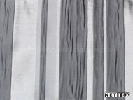 Nettex Eloquent Regal Platinum (MG16)  | Curtain Fabric - Grey, Silver, Deco, Decorative, Pattern, Stripe, Synthetic, Traditional, Domestic Use, Plisse