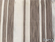 Walnut' | Curtain Fabric - Brown, Silver, Deco, Decorative, Pattern, Stripe, Synthetic fibre, Traditional, Domestic Use, Plisse