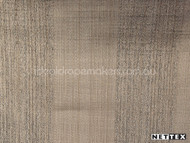 Nettex Wilton Sepia (MG6)    Curtain Fabric - Beige, Brown, Plain, Silver, Stripe, Synthetic, Traditional, Transitional, Domestic Use, Standard Width