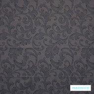 Charcoal' | Curtain Fabric - Grey, Damask, Fiber blend, Traditional, Transitional, Washable, Pink - Purple, Domestic Use
