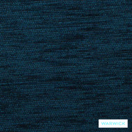 Warwick Ardo Kingfisher  | Upholstery Fabric - Blue, Plain, Synthetic, Washable, Domestic Use, Halo