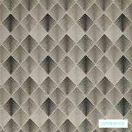 Warwick Aspire Charcoal  | Upholstery Fabric - Grey, Black - Charcoal, Diaper, Eclectic, Geometric, Midcentury, Synthetic, Washable, Diamond - Harlequin, Domestic Use, Halo
